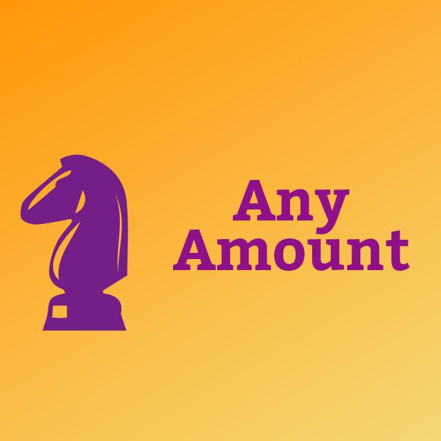 donation any amount